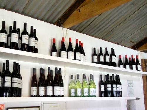 Shelf of Pindarie wines